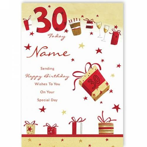 Sending You Happy 30th Birthday Wishes Card