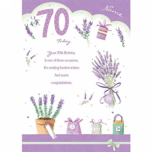 Fondest Wishes On Your 70th Birthday Card