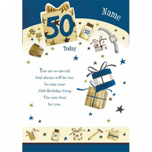 Very Best To You 50th Birthday Card