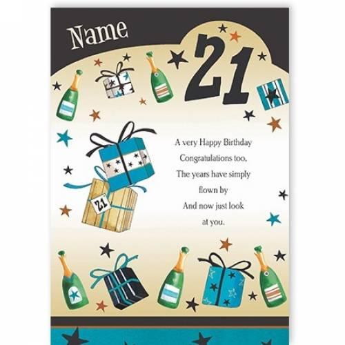 Years Have Flown Happy 21st Birthday Card