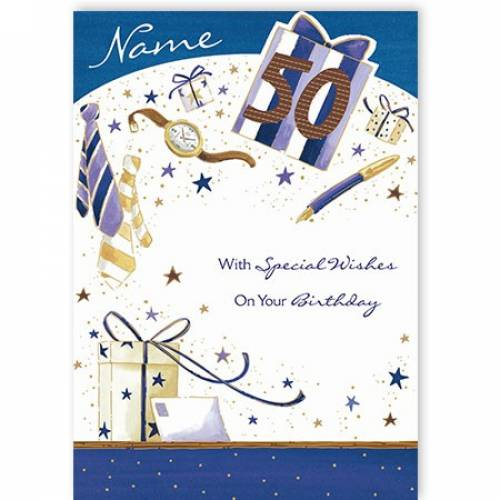 Special Wishes On Your 50th Birthday Card
