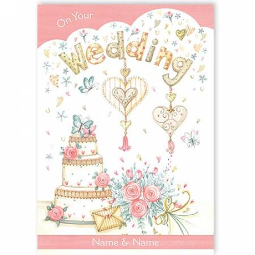 Wedding Cake On Your Wedding Card