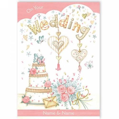 Wedding Cake On Your Wedding Card