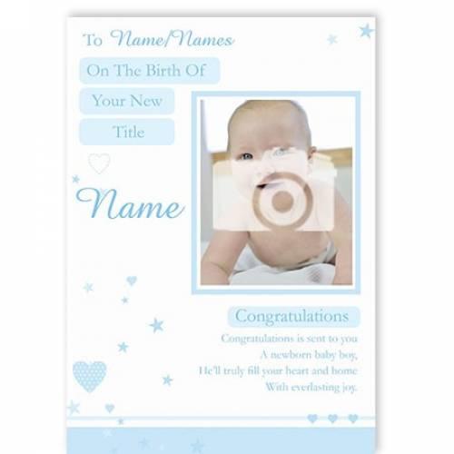 Congratulations Newborn Baby Boy Card