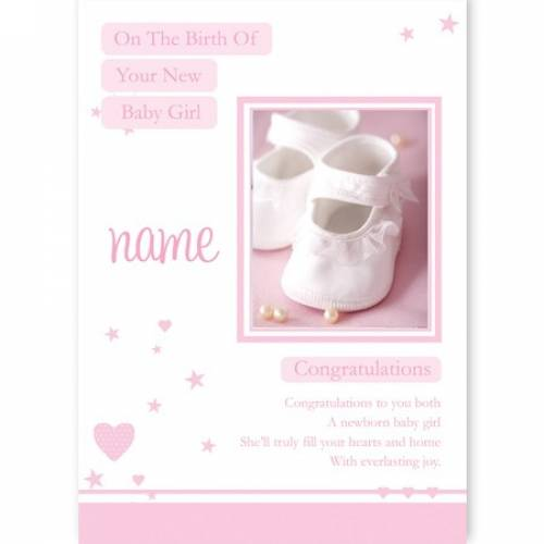 Pink Birth On Your New Baby Girl Baby Card