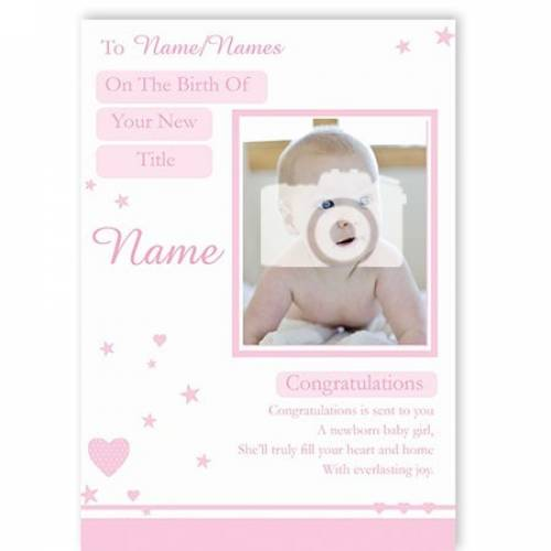 Congratulations Newborn Baby Girl Card