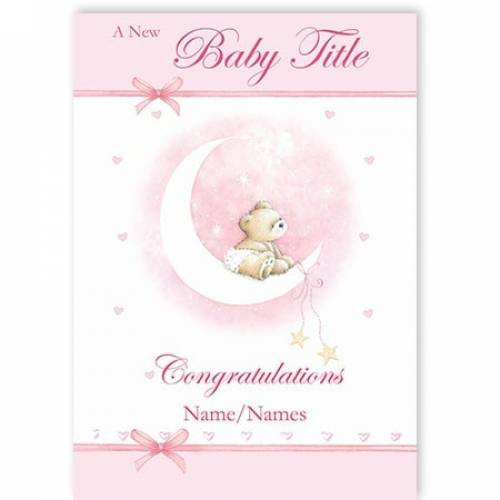 Pink Girl Congratulations A New Baby Card