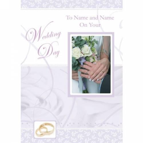 Hands Insert Couples Names Wedding Card