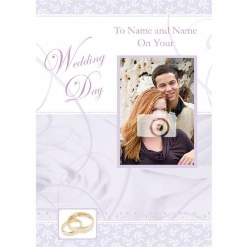 Any Photo Insert Couples Names Wedding Card