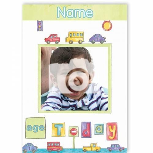 Any Age Any Photo Kids Birthday Card