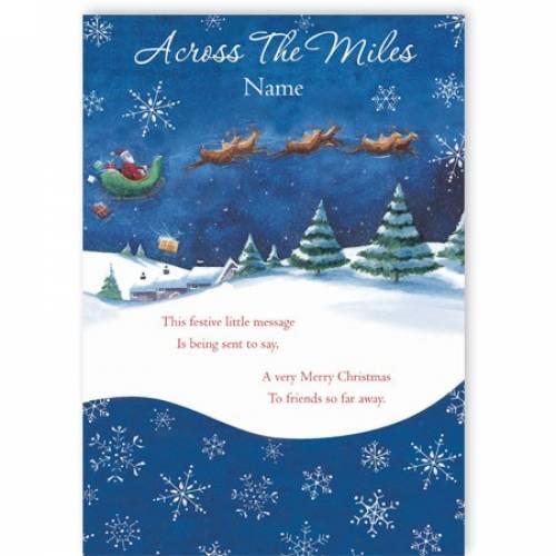 Across The Miles Festive Christmas Card