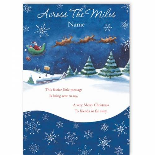 Across The Miles Festive Christmas Card
