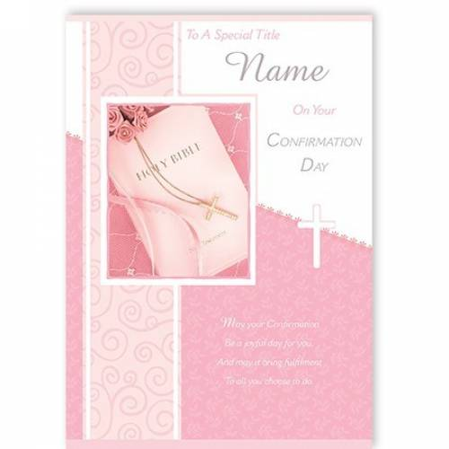 Girl's On Your Confirmation Day Card