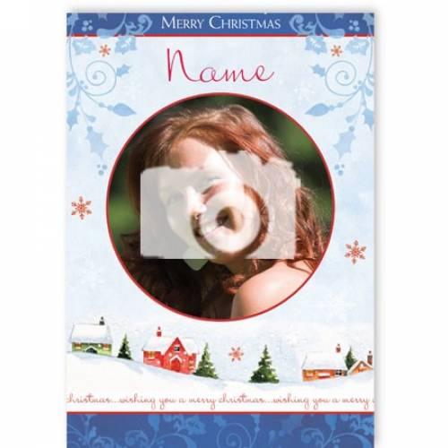 Wishing You A Merry Christmas Photo Upload Christmas Card