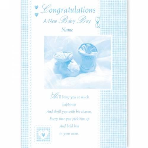 Congratulations A New Baby Boy Baby Card