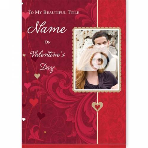 My Beautiful Photo Upload On Valentine's Day Card