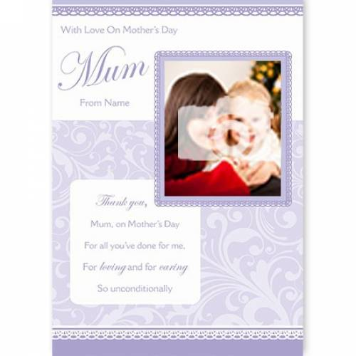 Loving & Caring Unconditionally Mother's Day Card