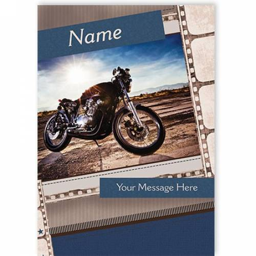 Motor Bike Any Message Any Occasion Card