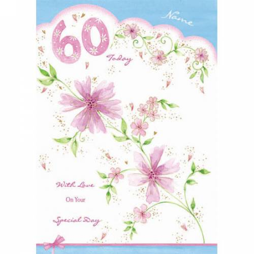 Sixty Today Happy 60th Birthday Card