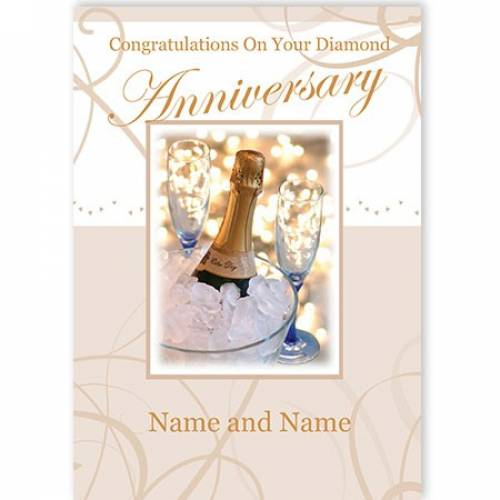 Congratulations On Your Diamond Anniversary Name And Name Card