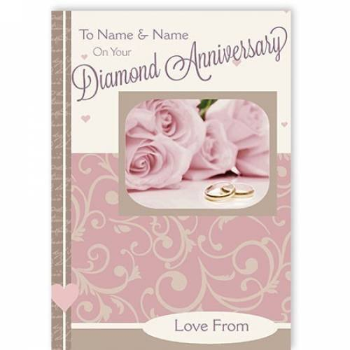 Name And Name Diamond Anniversary Card
