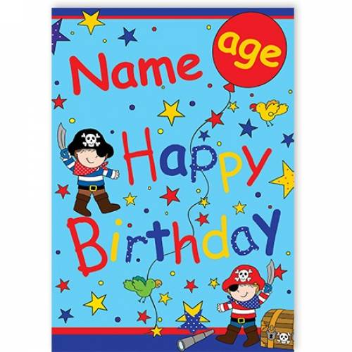 Stars Pirates AGE HAPPY BIRTHDAY Card