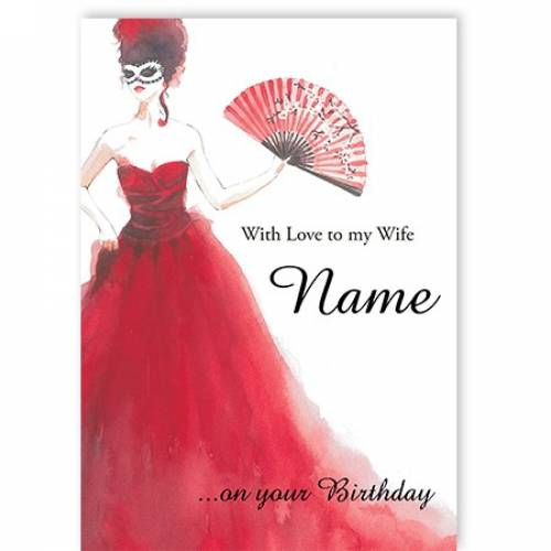 With Love To My Wife Name On Your Birthday Card
