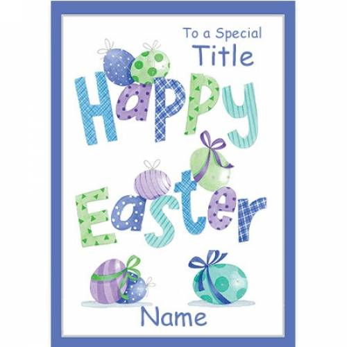 To A Special Title Happy Easter Name Card