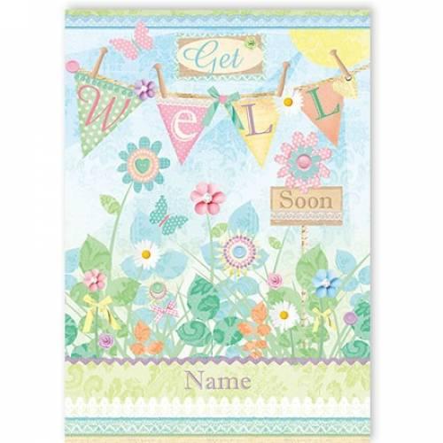 Flowers Get Well Soon Card