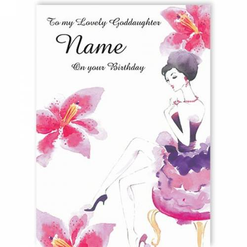 To My Lovely Goddaughter Name On Your Birthday Card