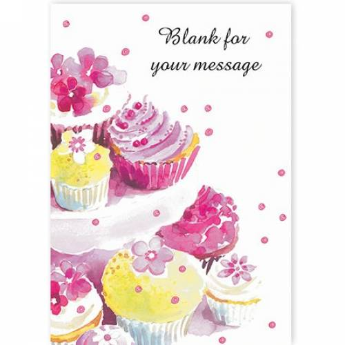 Cupcakes Your Message Card