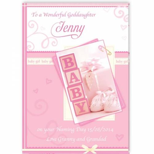 To A Wonderful Goddaughter Baby Card