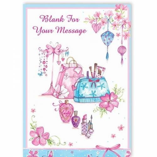 Blank For Your Message Perfume Bags Card