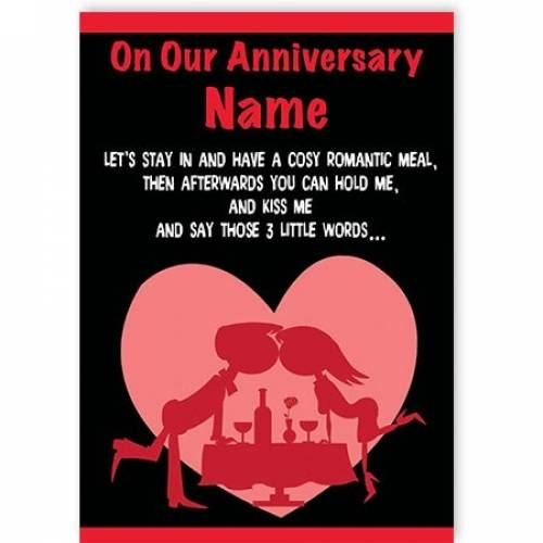 Three Little Words I'll Wash Up Anniversary Card