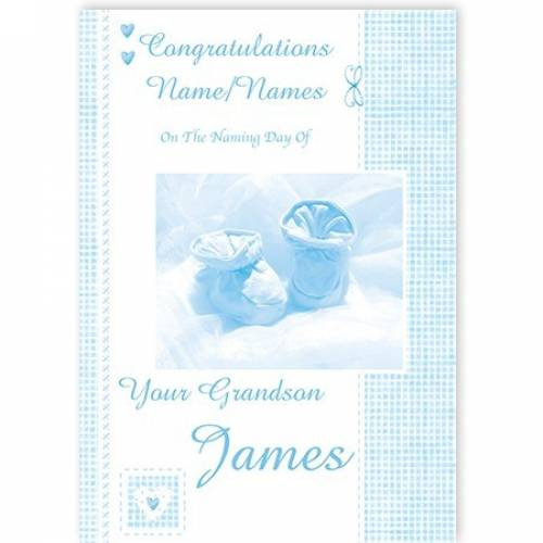 Congratulations Naming Day Your Grandson Card