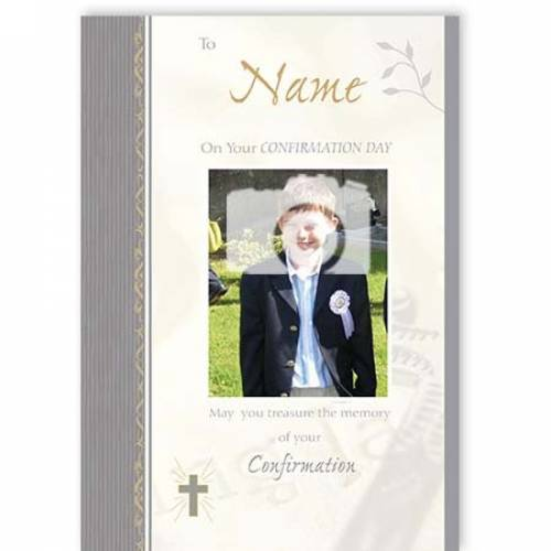 Confirmation Day Photo Card