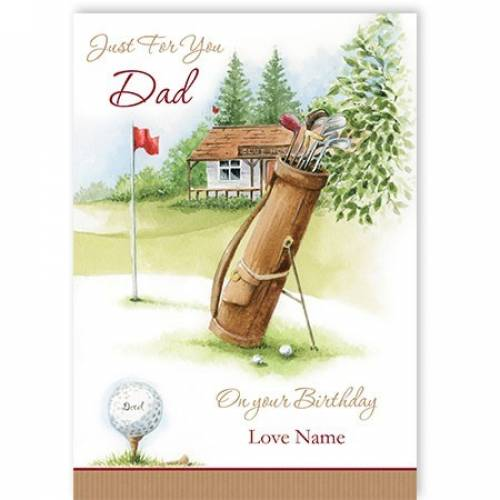 Birthday Gold Dad Card