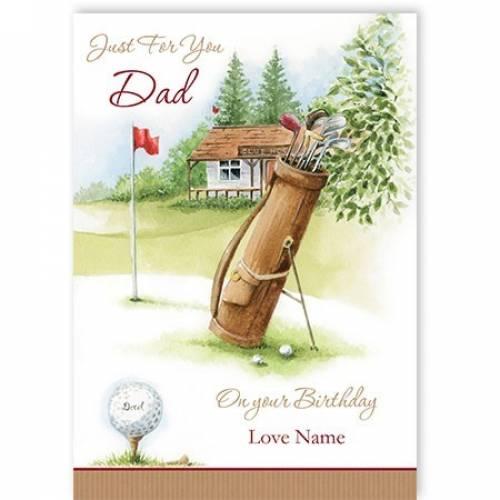 Birthday Gold Dad Card