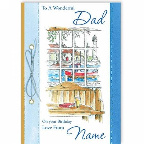 Wonderful Dad Birthday Card