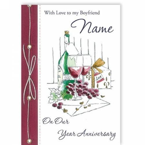 Boyfriend Our Anniversary Card