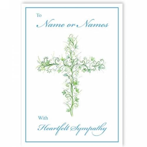 Flower Cross Sympathy Card