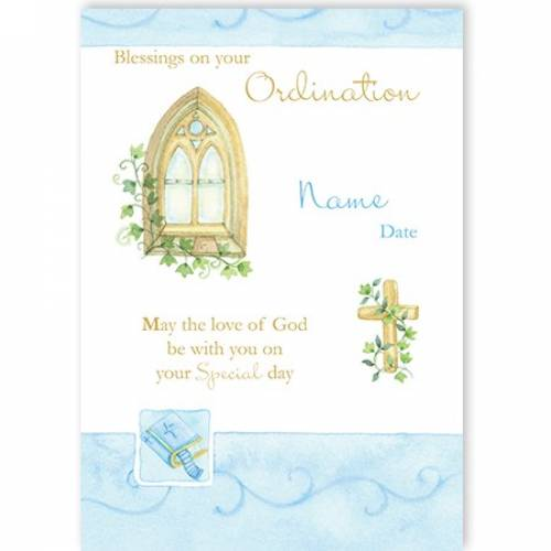Blessings On Your Ordination Card