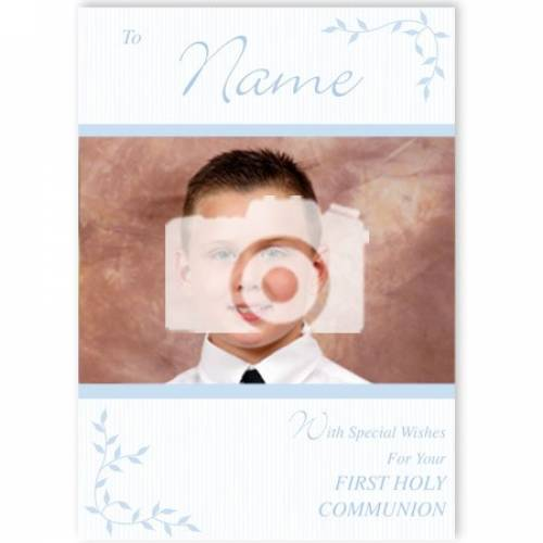 Special Wishes For Your Boy First Holy Communion Card