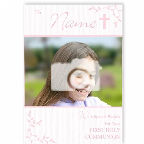 Special Wishes For Your Girl First Holy Communion Card