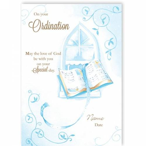 Book God Be With You Ordination Card