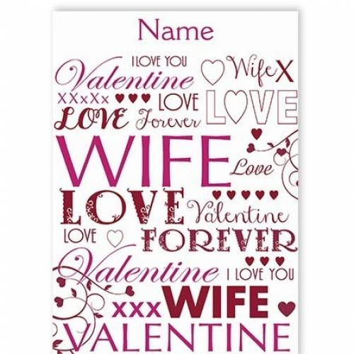 Valentine Wife Love Card