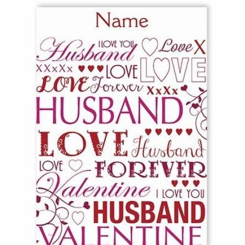 Valentine Husband Love Card