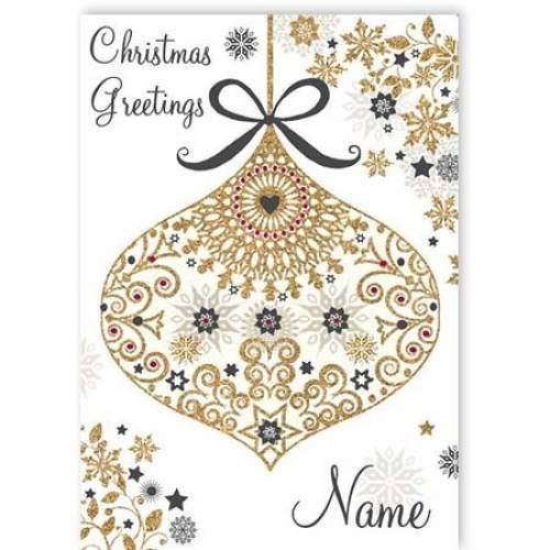 Christmas Greetings Bauble Card