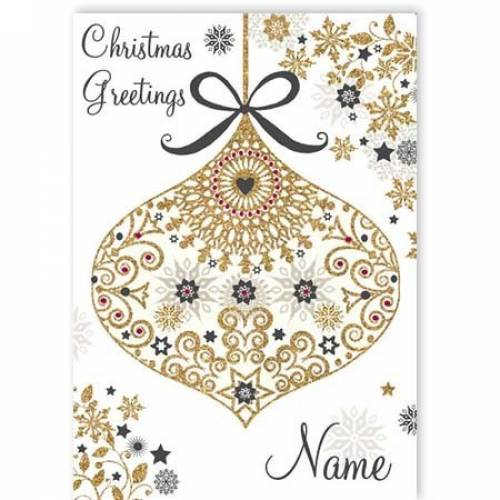 Christmas Greetings Bauble Card