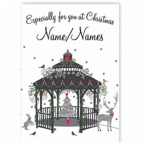 Christmas Scene Gazebo  Card